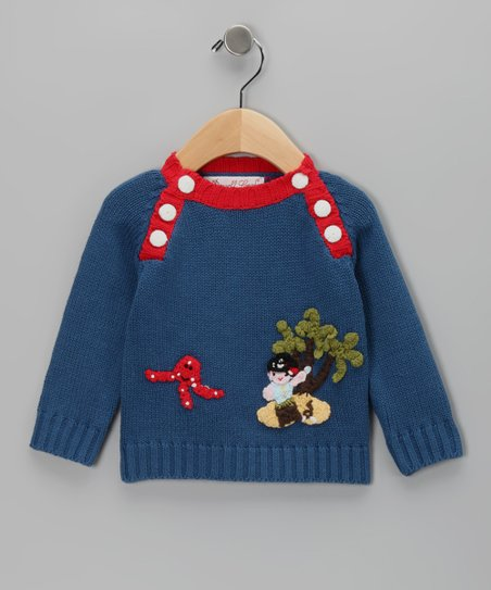 Blue & Red Pirate Sweater - Infant