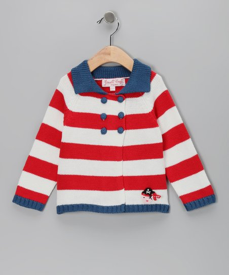 Blue & Red Pirate Cardigan - Infant