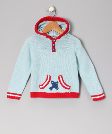 Light Blue Plane Hoodie - Infant, Toddler &amp; Boys