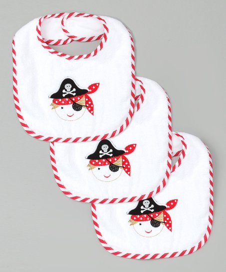 White Pirate Bib Set