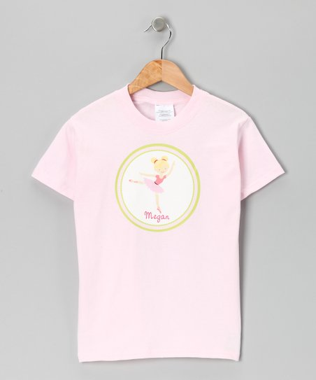 Pink Blonde Ballerina Personalized Tee - Infant, Toddler & Girls