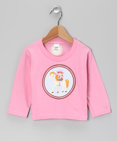 Pink Red-Haired Girl Giddyup Tee - Infant, Toddler & Girls