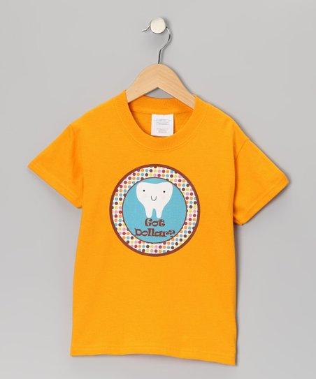 Orange 'Got Dollar?' Tooth Fairy Tee - Toddler & Kids