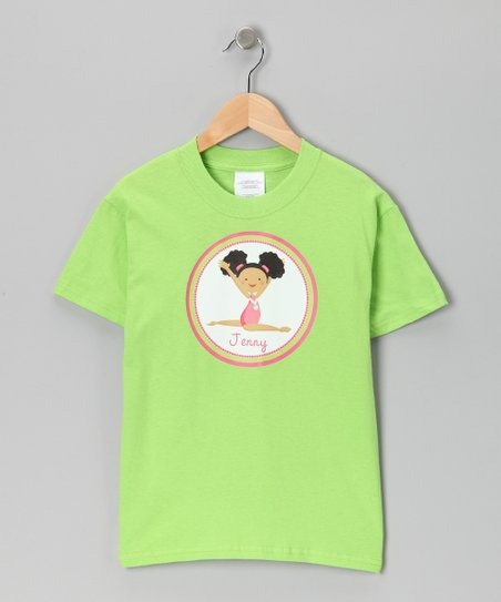 Lime & Black Hair Personalized Tee - Infant, Toddler & Girls