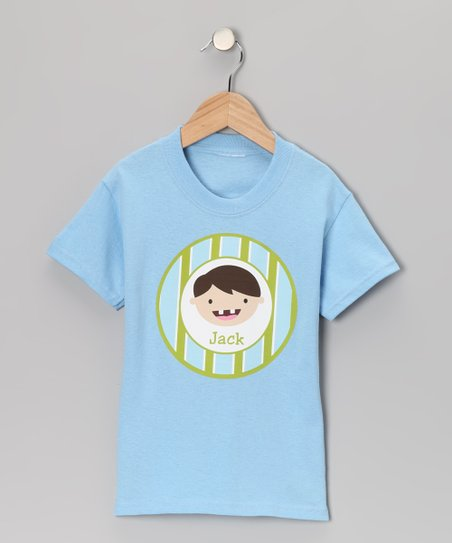 Blue & Brunette Tooth Fairy Personalized Tee - Toddler & Boys