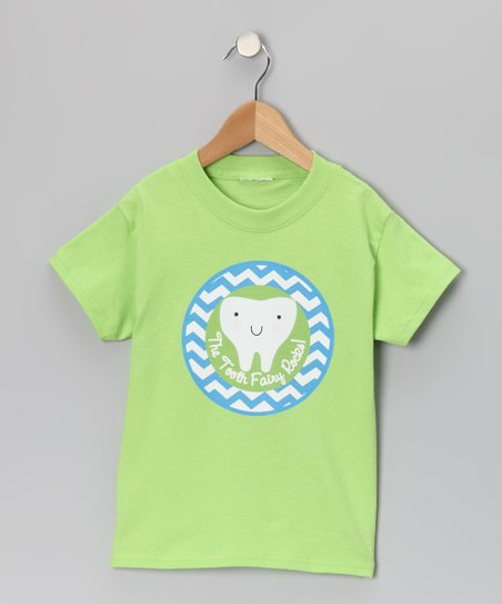 Green 'The Tooth Fairy Rocks' Tee - Toddler & Kids