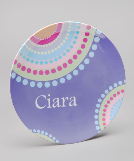 Purple Grape Punch Personalized Plate