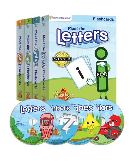 Letters, Numbers, Shapes & Colors DVD & Flash Card Set