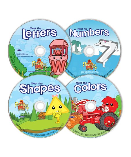 Letters, Numbers, Shapes & Colors DVD Set