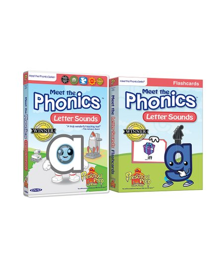 Phonics Letter Sounds DVD &amp; Flash Cards