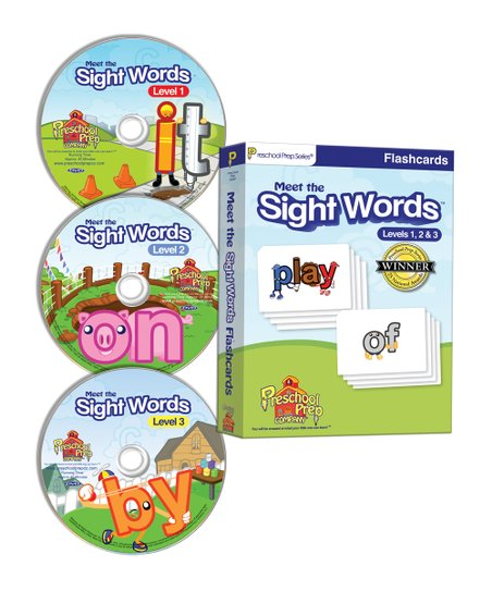 Meet the Sight Words DVD & Flash Card Set