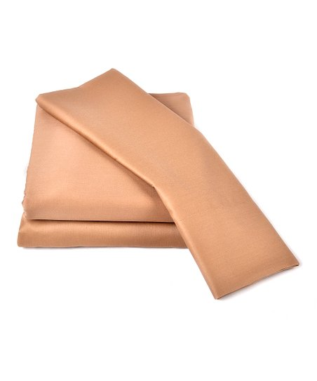 Camel Wrinkle-Free Sateen Sheet Set