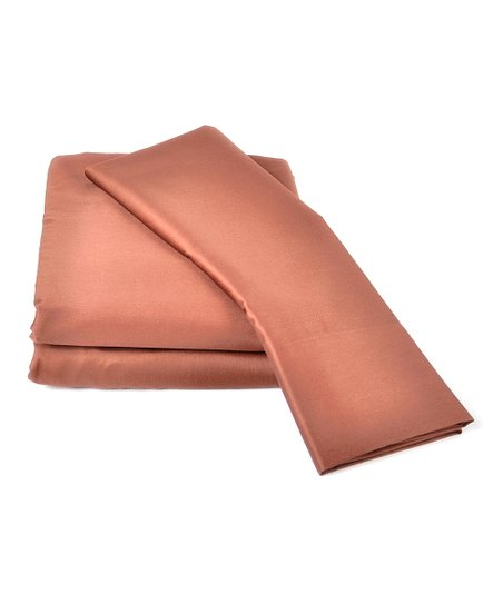 Pecan Wrinkle-Free Sateen Sheet Set