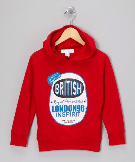 Red 'British' Hoodie - Toddler & Kids