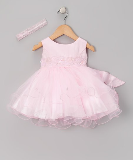 Pink Ballet Sash Dress & Headband - Infant