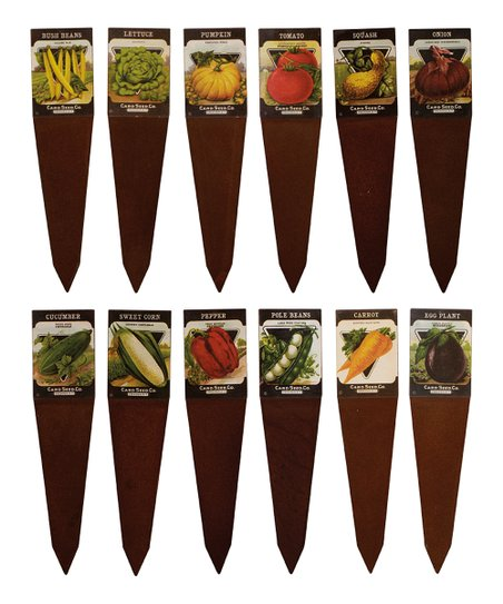 Brown Seed Pack Garden Marker Set