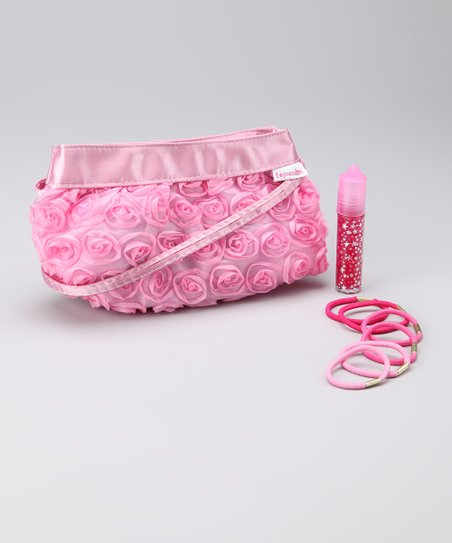 Pink Rose Clutch Set
