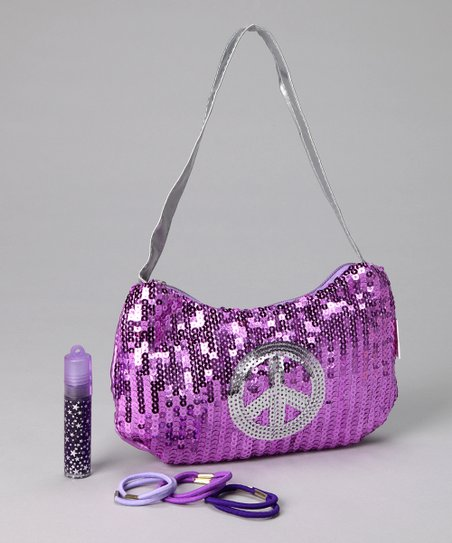 Lilac Sequin Purse Set