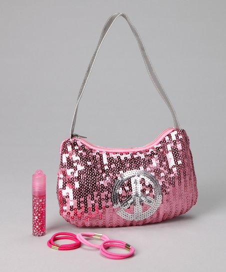 Pink Sequin Purse Set