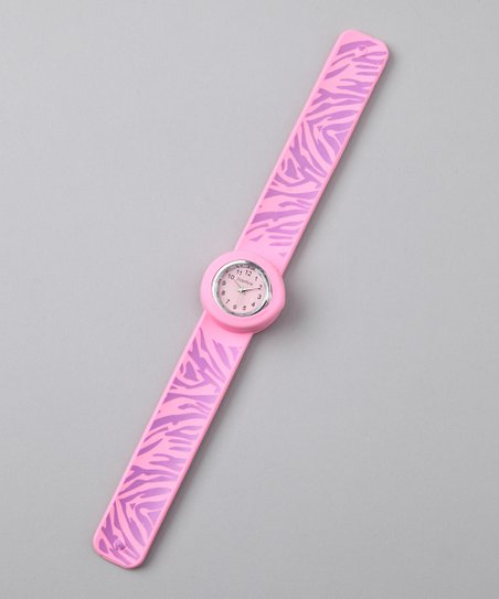 Pink Zebra Slap Watch