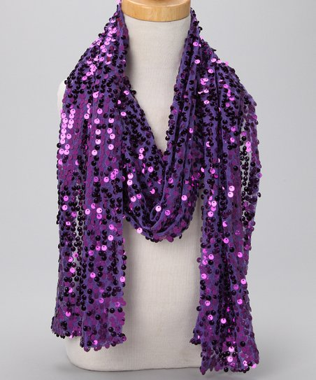 Purple Sequin Scarf