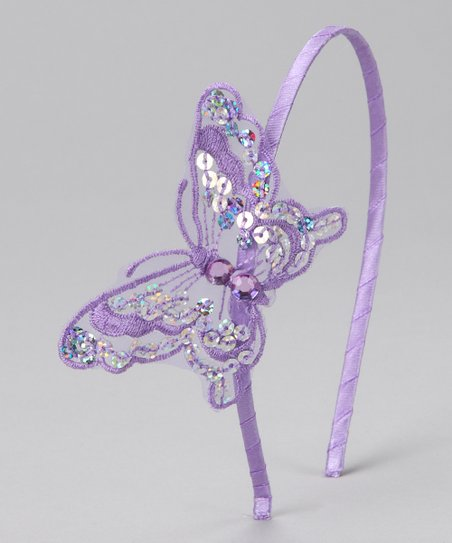 Lilac Sequin Butterfly Headband