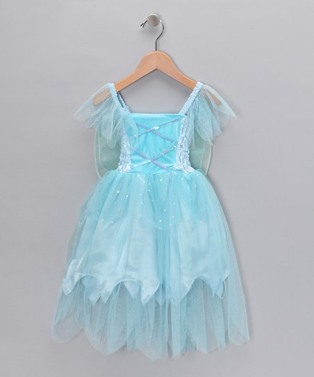 Blue Winged Fairy Dress - Toddler & Girls
