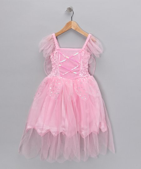 Pink Winged Fairy Dress - Toddler & Girls