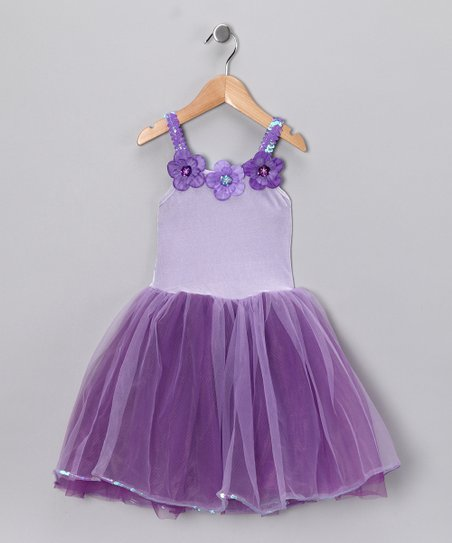 Purple & Lilac Flower Dress - Toddler & Girls