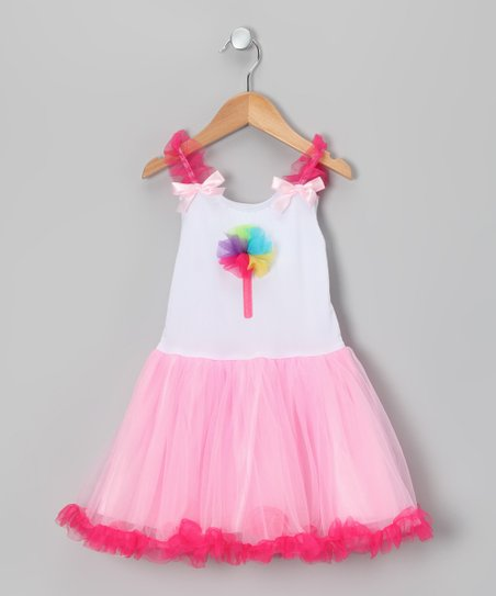 Pink Lollipop Candy Tulle Dress - Toddler & Girls