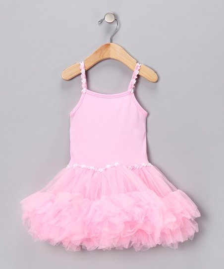 Pink Tiered Ruffle Dress - Girls