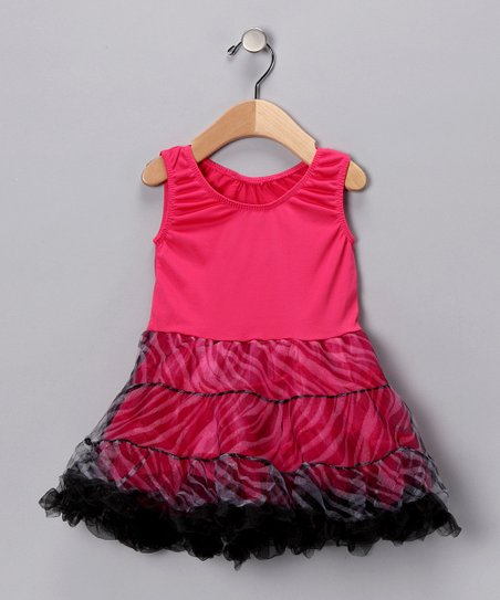 Fuchsia Tiered Dress - Toddler & Girls