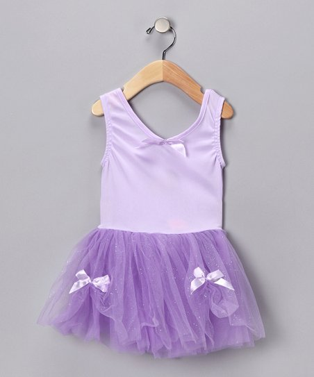 Lilac Glitter Ribbon Dress - Toddler &amp; Girls
