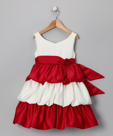 Red Tier Dress - Infant, Toddler & Girls