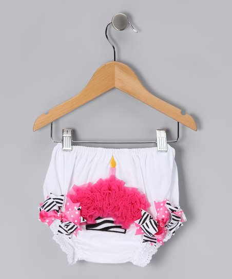 White Zebra Cupcake Bloomers
