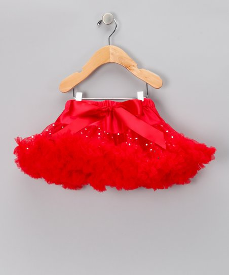 Prissy in Pink Red Sparkle Pettiskirt - Infant & Toddler
