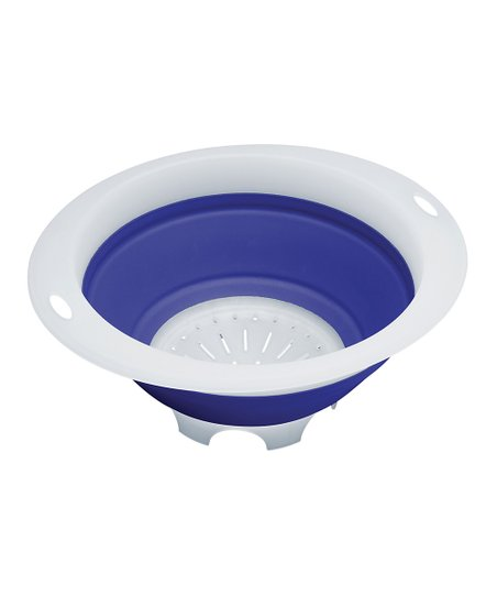 Blue 3-Qt. Collapsible Colander