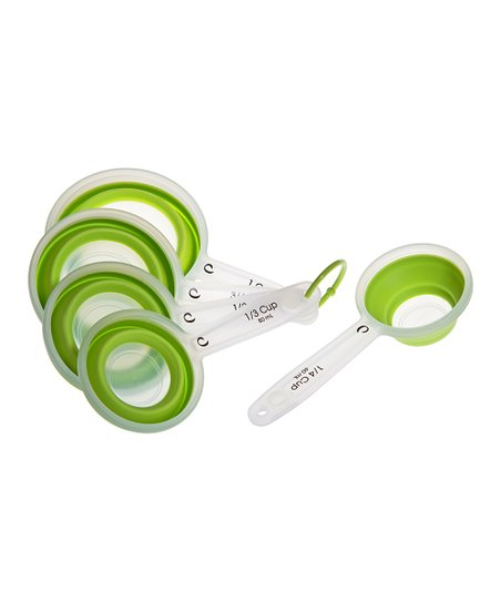 Green Collapsible Measuring Cup Set