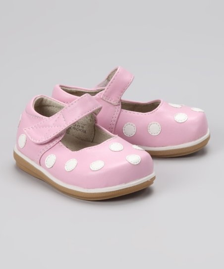 Light Pink & White Polka Dot Mary Jane