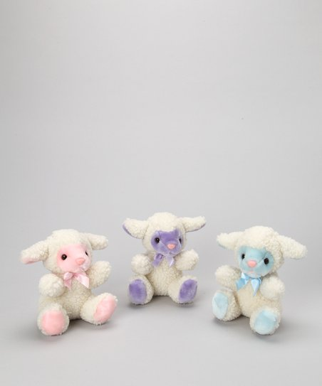 Purr-fection Easter Lamb Plush Toy Set
