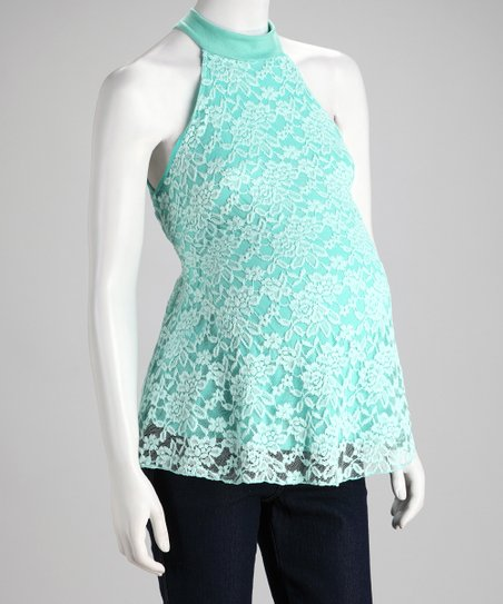 QT Maternity Mint Swirl Sleeveless Maternity Top