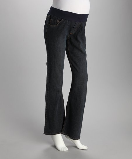 Dark Blue Under-Belly Maternity Jeans