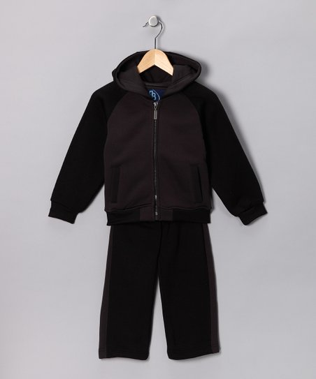 ROADBLOCK Black & Gray Zip-Up Hoodie & Pants - Toddler