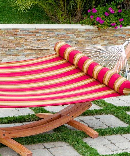 Stripe Hammock Bed & Bolster Pillow