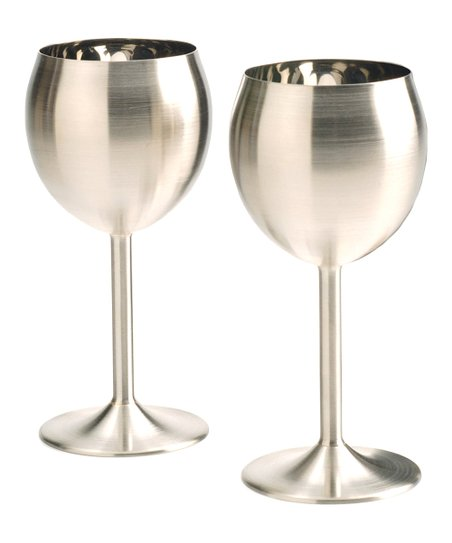 Stainless Steel Wineglass - Set of Two