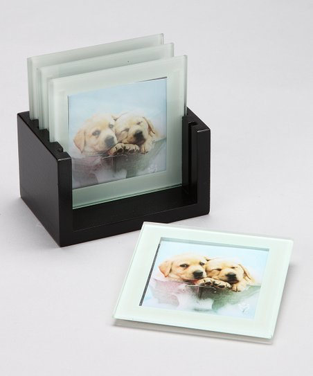 Pretty as a Picture Puppy Coaster Set