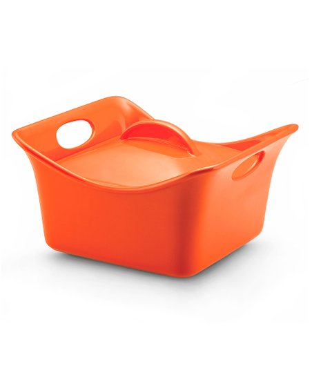 Orange 3.5-Qt Covered Square Dish