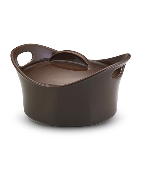 Chocolate 2.75-Qt. Casserround Covered Baking Dish
