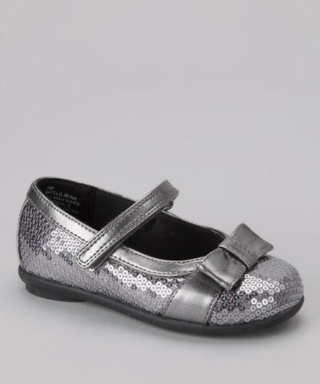 Pewter Sequin Lil Irina Mary Jane