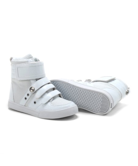 White Crocodile Top Kid Hi-Top Sneaker